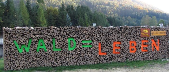 Ein Holzstoß